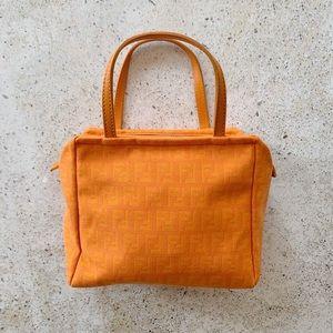 VINTAGE FENDI Zucca FF Monogram Mini Bag Satchel